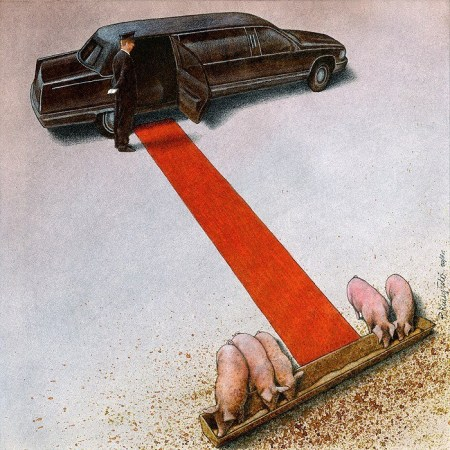 Pawel Kuczynski Pigs at trough