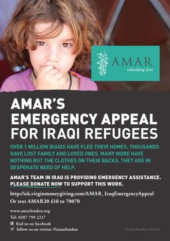 AMAR Emergency Appeal Flyer 1